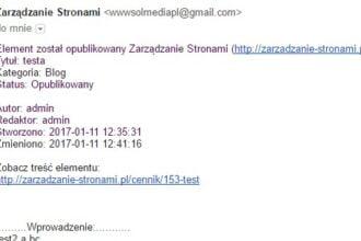 Powiadomienia mailowe o zmianach w treści - Joomla Notification Plugin